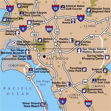 San Diego Area Map by San Diego International Airport Airport Maps Maps And
