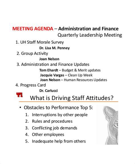 staff meeting agenda sample studioy us