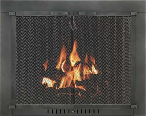 Hanging Fireplace Screens by Stoll Fireplace Inc Glass And Mesh Doors And Hanging Mesh