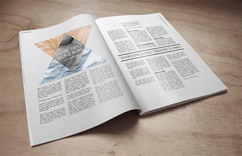 magazine layout mockup magazine layout mockup on behance