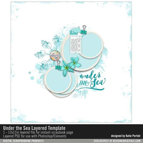 templates for under the sea under the sea layered template katie pertiet pse ps