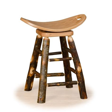 rustic bar stools swivel rustic hickory and oak