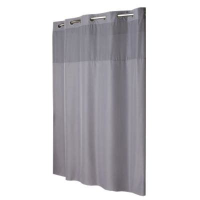 hookless shower curtain mystery with liner in grey