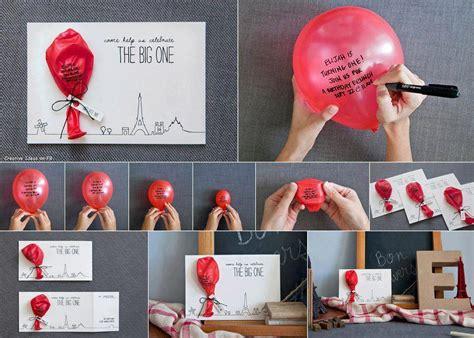 Balloon Invitation Card