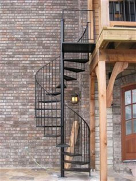 Rainy Roof Navy T3009 4 wooden outdoor circular staircase outdoor spiral stairs