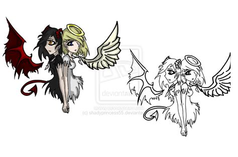 angel and demon tattoo drawings learn more at bartholomewspinlists blogspot com