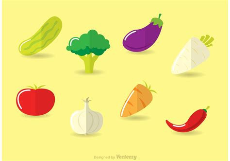 vegetables vector flat vegetable vectors icons free vector