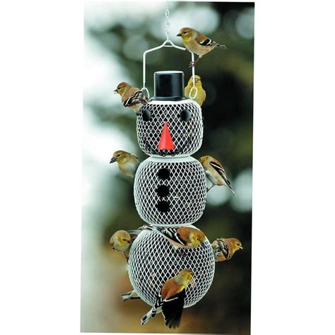 no no snowman bird feeders black oil sunflower seed