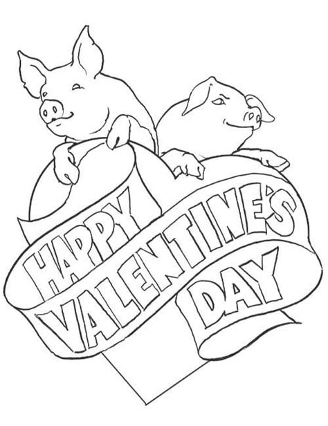 valentine pig coloring page valentines day coloring pages allkidsnetwork com