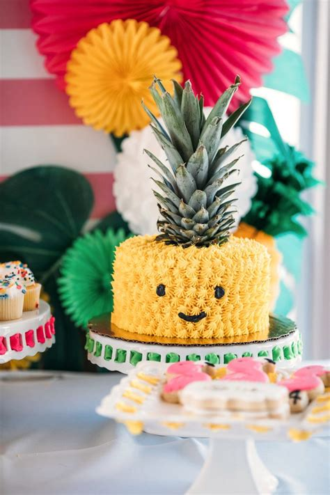 Birthday Cake Ideas by Kara S Ideas Quot Like A Pineapple Quot Tropical