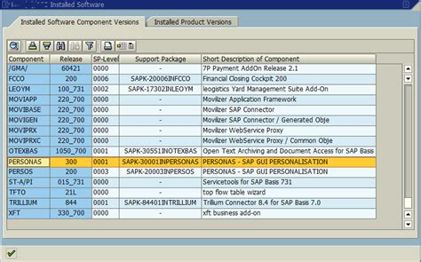 tutorial sap personas check sap personas version and support package level
