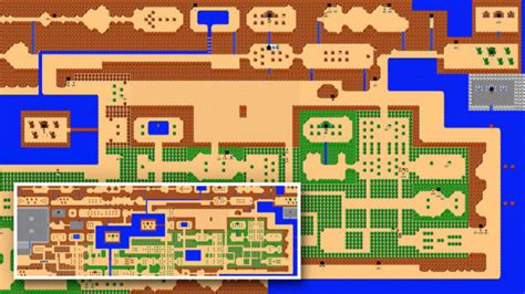 legend of zelda map with secrets giant nes zelda mural reminds us to never forget about the