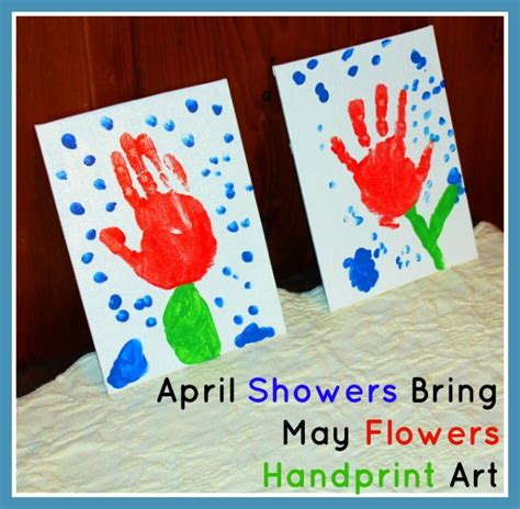 quot april showers bring may flowers quot handprint inner