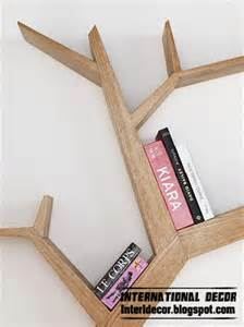 Invisible Bookcase Modern Wall Shelves In Tree Branches Style Tree Shelves