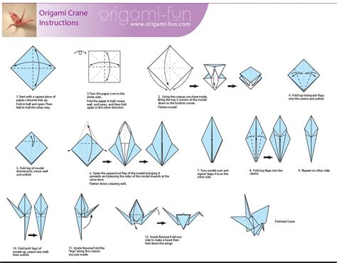 Fold Paper Cranes - how to make an origami crane origami