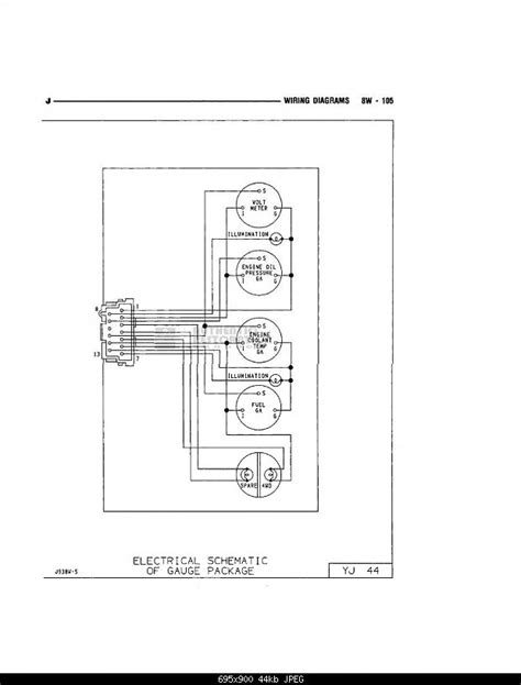 Need Wire Diagram for Gauge Cluster for 87 YJ! - JeepForum.com