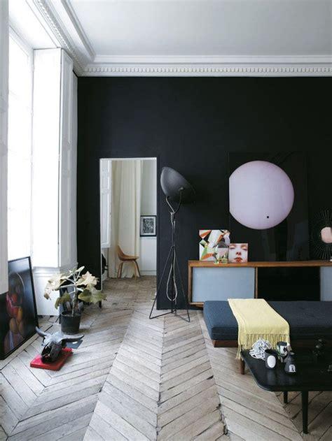 Délicieux Pochoir Pour Mur De Chambre #2: mur-noir-design-tendance.jpg