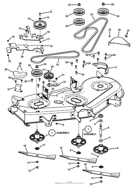 snapper lawn mower parts diagram snapper 7800318 slt24520fc 52 quot 24hp lawn tractor lt100