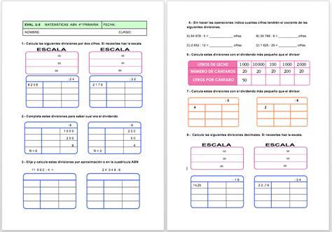 examen para imprimir septiembre 2o primaria 2016 algoritmos abn por unas matem 225 ticas sencillas naturales