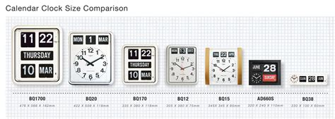 Calendar Comparison Jadco Time Analogue Calendar Clock Jadco Time
