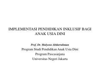 Anak Berkesulitan Belajar Prof Dr Mulyono Abdurrahman Ppt Pendidikan Khusus Bagi Peserta Didik Cerdas Istimewa