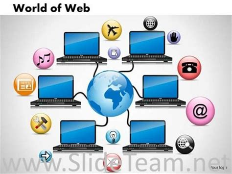 computer design for powerpoint world wide computer network ppt design powerpoint diagram
