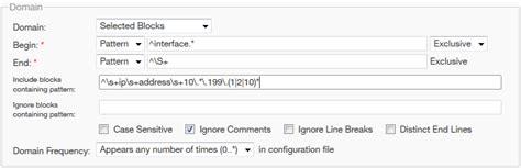 ignore pattern rule defining rule grammar documentation for bmc network