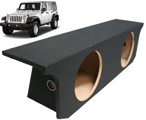 Jeep Jk Subwoofer Box 2007 2013 Jeep Wrangler 4 Door Unlimited Dual 12 Subwoofer
