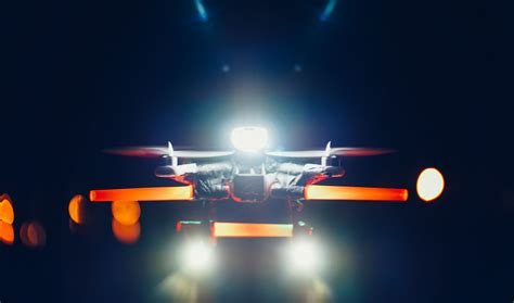 drone with and lights dji phantom creates led uas vision