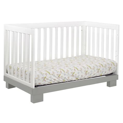 Grey And White Modo Convertible Crib By Babyletto Gray Convertible Crib