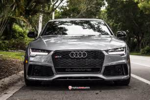 Modified Audi Rs7 Audi Rs7 With Vossen Cvt 22 Wheels Advanced Automotive