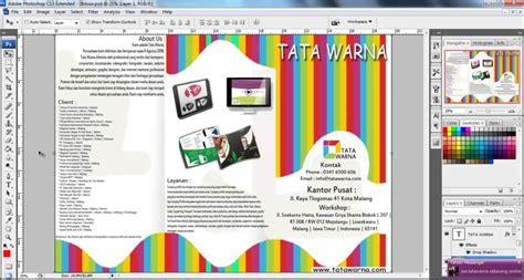 desain brosur photoshop cara membuat desain brosur dengan adobe photoshop youtube