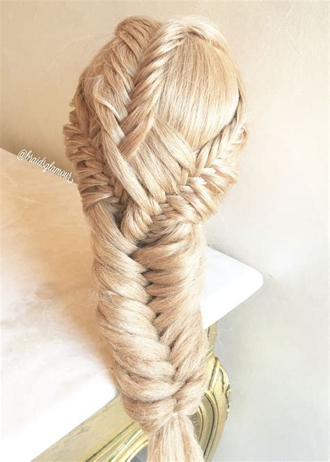 fishtail braids with corn rows 1381 best hairstyles i love complex braiding images on