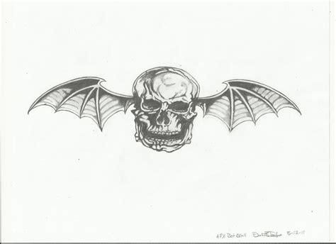 pin a7x deathbat draw by lghostjpg on