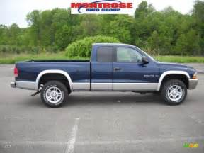 2001 patriot blue pearl dodge dakota slt club cab 4x4