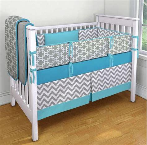 Gray And White Chevron Crib Bedding Blue Gray And White Chevron And Geometric From Nurseryrhymedesign