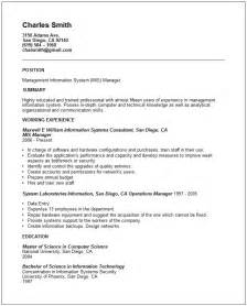 Job Purpose Resume Format by Information Technology Resume Examples