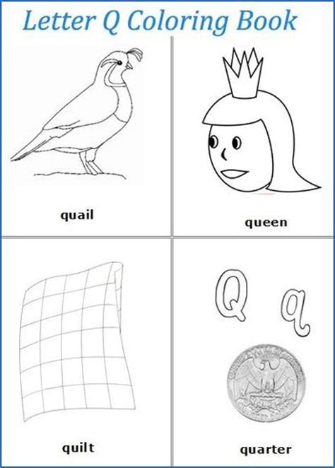 words with q letter q words coloring pages preschool items juxtapost