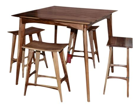 Bar Stools Set Of 5 by Wooden Bar Table Stools Set Of 5 Chairish
