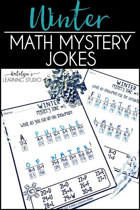 printable math jokes winter math worksheets subtraction worksheets fun math