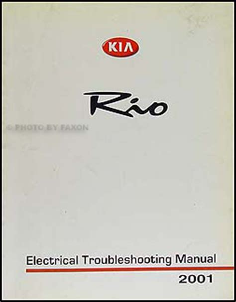 Kia Electrical Problems 2001 Kia Electrical Troubleshooting Manual Original