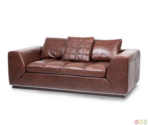 cordovan leather sofa michael amini mia bella modern cordovan leather loveseat