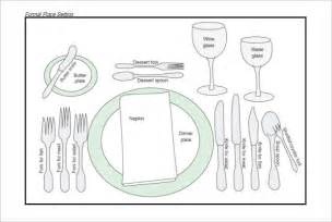 Informal Table Setting Ideas - 20 place setting templates free amp premium templates creative template
