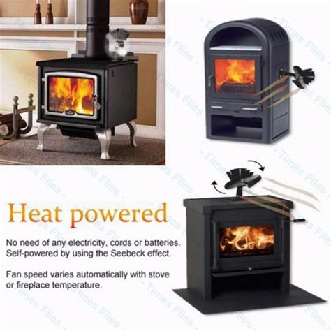 heat powered wood fireplace stove fan for wood gas