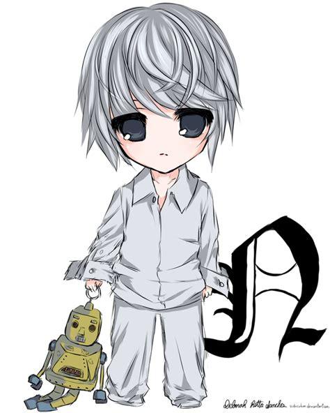 Kameja Anime L One L Dheat Note 1 chibi near by subiculum on deviantart