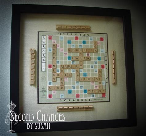 scrabble clue second chances by susan vintage board shadow boxes