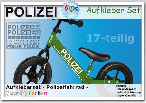 Aufkleber Polizei Fahrrad polizei aufkleber set fahrrad sticker dekor f 252 r