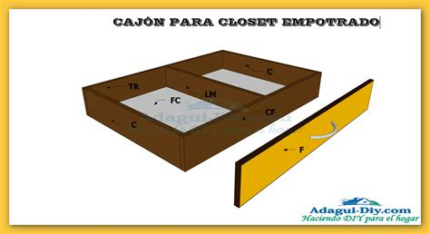 Qq Cajon plano como hacer cajones para closet empotrado de cocina