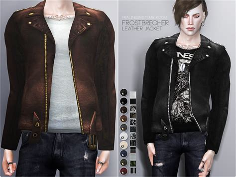 Jaket Vest Hoodie Xcom 2 Advent 3 my sims 4 leather jackets by pralinesims