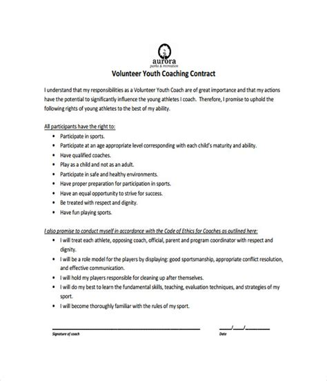 21 Contract Templates Free Word Pdf Documents Download Coaching Contract Template